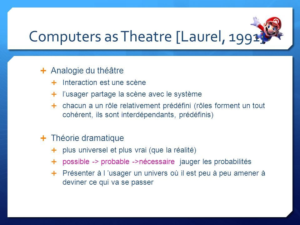 Computers as Theatre [Laurel, 1991]